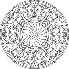 mandala malebøger print